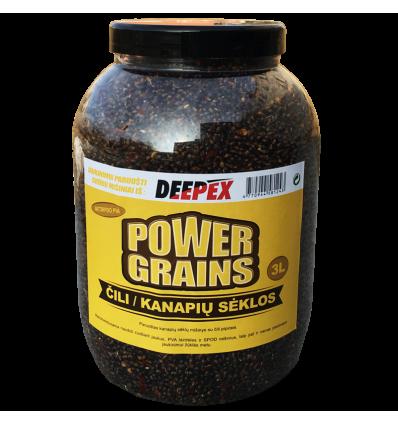 Power Grains 3ltr (Čili kanapių sėklos)