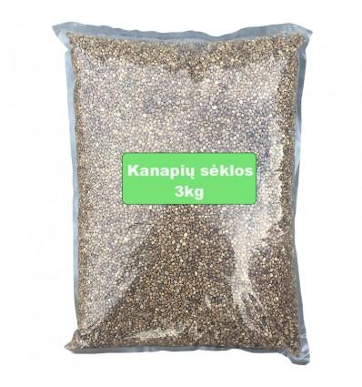 Kanapių sėklos 3kg